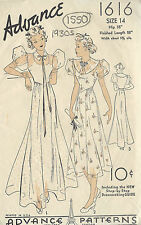 1930s Vintage Sewing Pattern B32 Dress (1550)