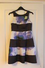 Womens Black & Purple Coast Dress Size 8 Petite