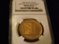 1954 Atlantic City    Centennial  Medal    NGC MS 64