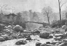 SIKKIM. Bridge Tributary Ranjit  c1885 old antique vintage print picture