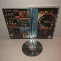 Mortal Kombat Sega CD Complete CIB Iconic Fighting Game w/ REG CARD! TESTED Fun