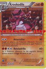KROOKODILE - RARA HOLO FOIL 65/114 - BIANCO NERO - POKEMON - ITALIANO