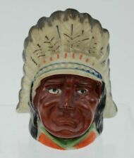 Vintage Indian Chief Head Bank Ceramic Made in Japan c. 1950 - Rare