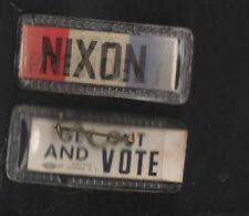 RICHARD NIXON FOR PRESIDENT ORIGINAL CAMPAIGN PIN 1960 FLICKER