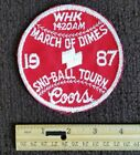 VTG 1980s  CLEVELAND OHIO COORS Beer TRAVEL WHK Radio Collectors PATCH
