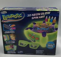 Brand New RoseArt Lightastic 3D Neon Glow In The Dark Spin Art Sealed Box Crafts