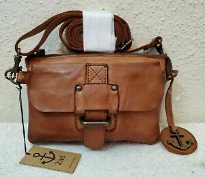 New Harbour 2nd Convertible Vintage Cognac Leather Women's Crossbody/Belt Bag