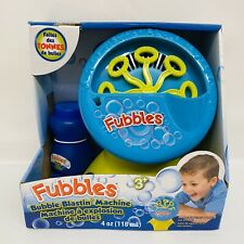 NEW Little Kids Fubbles Bubble Blastin' Machine for Gifts Parties Fun - Blue