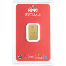2.5 Gram RMC Republic Metals .9999 Fine Gold Bar in Assay