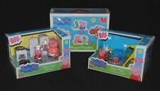 Peppa Pig Kitchen & Camping figura Playsets & una caja de 4 En Forma De Rompecabezas Nuevo Y En Caja