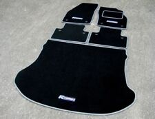 Black/Grey Car Mats to fit Volvo XC60 (2008-2017) + Boot Mat + R Design Logos