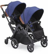 Contours Curve Double Tandem Stroller in Indigo Blue Brand New! Free Shipping!