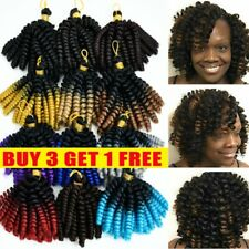 """New listing 6"""" Afro Jamaican Bounce Jumpy Wand Curl Crochet Braid Hair Extensions Short US"""