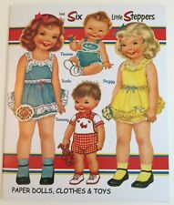 Six Little Steppers-Charming Retro Paper Doll Book from Paper Studio Press