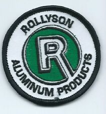 Rollyson R aluminum products Ohio CO. driver/employee patch 2-1/2 in dia
