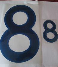 N ° 8 grandes y pequeñas Inglaterra Home Football Shirt nombre establecido sólo números de Deportivos Id
