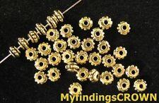250 pcs Antiqued gold tiny drum spacers FC923
