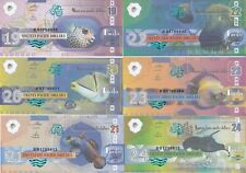 Pacific Ocean Set 6 banknotes 19-24 dollars 2016 Fishes UNC Private issue