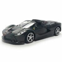 Ferrari LaFerrari Aperta 1:43 Model Car Diecast Toy Vehicle Collection Black