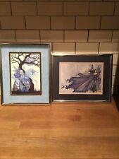 Amy Brown Matted Print Cloak of Stars Fairy Purple Blue Faery Night Sky Rare New