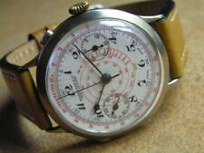 One of First Oversize EBERHARD Wrist Chronograph  Monopush. Mov. ca1919