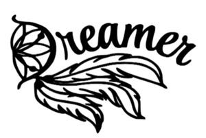 Dreamer dream catcher permanent vinyl decal sticker car window mirror tumbler