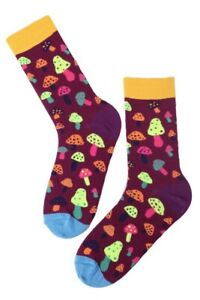 Mens Colourful Mushroom Print Socks (Pair)