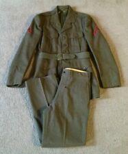 Vintage 1950s U.S. Marines Military Wool Dress Uniform - Size 36R