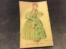 Antique Fashion Print - Paris Walking Dress - 1833
