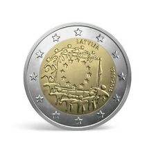 2 Eur Latvia 2015 Riga Latvija Coin Munze 30 Years of The European Flag EU NEW
