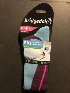Bridgedale Womens Merino Light Weight Ski Socks Size Medium New Blackberry
