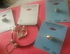 AUTHENTIC .925 IBB BELK BRACELET SPACERS CHARMS SAFETY W/MOTHER CHILD  $250 lot