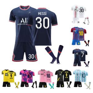 21/22 Kids Football Kits Soccer Training Suits Jersey Kids Gift