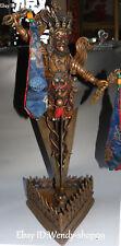 Old Pure Bronze Gem Vajrapani Chana Dorje Buddha Beast Phurba Dagger Holder Faqi