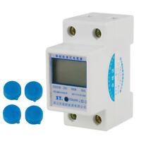 220V 5(80)A Numérique Monophasé 2P LCD DIN-Rail Compteur électrique KWh Mètre