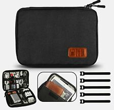 GiBot Cable Organiser Bag,Travel Electronics Accessories Bag Organiser for