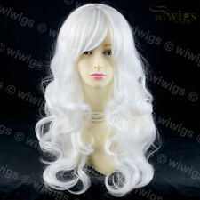 Wiwigs Long Wavy Snow White Cosplay Theatre Clubbing Ladies Wig