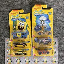 2019 Hot Wheels Nickelodeon Spongebob Squarepants Set of 6 Walmart Exclusive HTF
