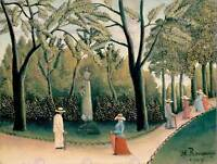 LANDSCAPE ROUSSEAU LUXEMBOURG GARDEN CHOPIN STATUE POSTER PRINT BB12519B