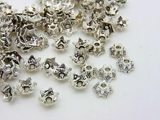 100 Pcs - Tibetan Silver Dainty 6mm Bead Caps Jewellery Beading Findings D14