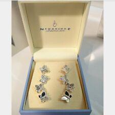 NEWBRIDGE SILVERWARE - Butterfly Drop Earrings, New in the Original Box