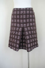 Plaids & Checks Wool Blend Pleated Skirts for Women