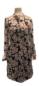 J. Crew Mercantile Long Sleeve Silk Like Dress Size XXS Long Sleeve Floral NWT