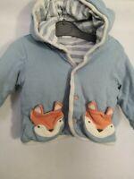 Baby Boys Blue & Grey Animal Jacket Coat 6 Months
