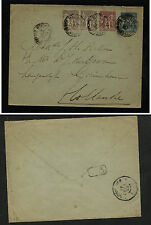 France  uprated postal envelope to Holland  1898        KEL0122