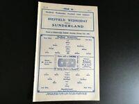 SHEFFIELD WEDNESDAY  V SUNDERLAND 1932/33