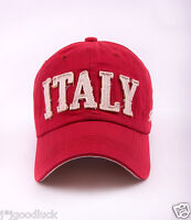 M184 Red NEW Cotton Baseball Cap Buckle-back Hip-Hop Sun Hat Letters ITALY
