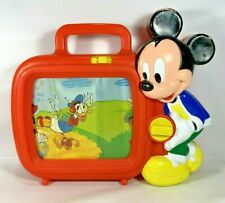 Vintage Mickey Mouse Musical Wind Up Scroll TV Baby Toy ARCO Zippity Doo Dah