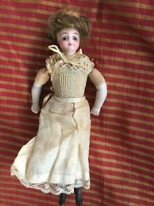 vintage bisque dollhouse doll 8""
