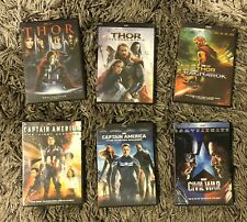 Captain America Trilogy and Thor Trilogy 6-DVD Bundle BRAND NEW Free Shipping